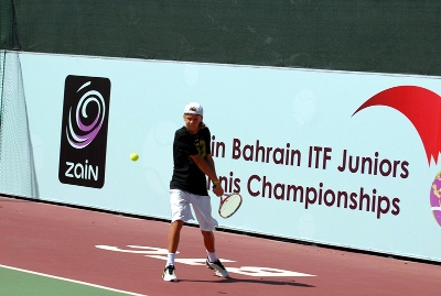 Tennis player at Bahrain Championships