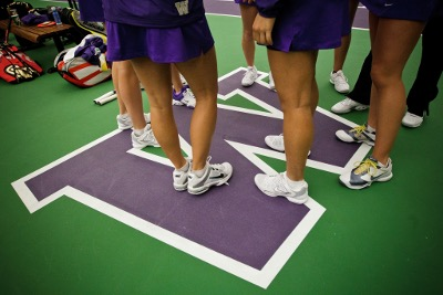 Tennis players' legs