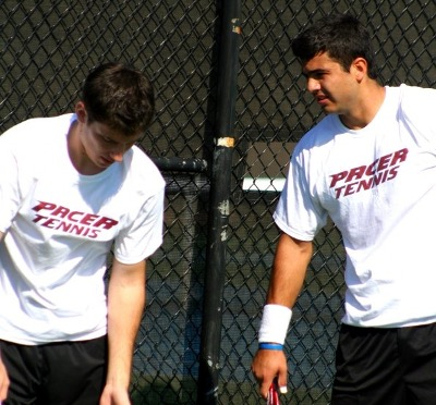 Two male tennis players